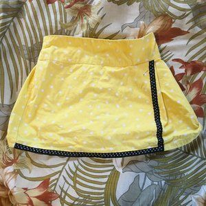 Yellow and Black Polka Dotted Skirt, 18M
